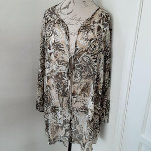 White Stag Sheer Blouse Coverup Women's 22/24 Top